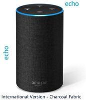 Amazon Echo 2nd Gen Smart Speaker, Alexa, Charcoal Fabric, International Version
