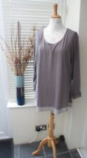 Mink Mock Layer Tunic Top Long Sleeve T-Shirt Debenhams Collection Size 22