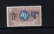 New Zealand 1965 ITU Emblem Old  New Communication Equipment   MNH SG 828 Sc 370