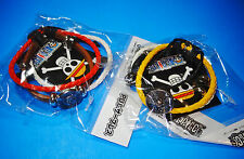 One Piece Anime Lot of 2 PU Leather Bracelets Law Heart Tattoo + Going Merry