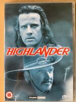Highlander DVD 1986 Original Action Fantasy Movie Classic w/ Sean Connery