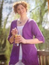Sirdar Flirt Lace Cardigan Knitting Pattern By Sirdar