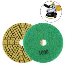 "4"" Wet/dry Diamond Polishing Pads Grinding Discs Granite Concrete Marble Stone E Granularity 1000"