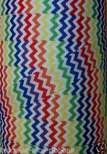 "5YDS 7/8"" MULTI COLORED RAINBOW ZIG ZAG CHEVRON GROSGRAIN RIBBON #2"