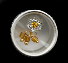 Bindi fleur jaune bijoux de peau front ht de gamme strass 13 mm  ING E 2403
