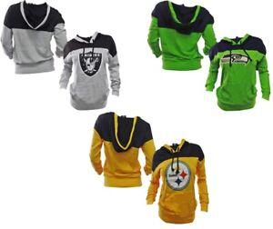 GIII Apparel NFL Women's Halfback Long Sleeve Hooded Sweatshirts