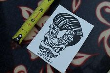 """New listing Big Daddy Tribal Mask face Hawaii ~4"""" Vintage Surfing Decal Sticker"""