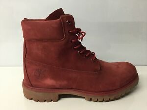"""TIMBERLAND A1149 MEN'S 6"""" PREMIUM RED WATERPROOF LEATHER BOOTS size 10 M.✨"""