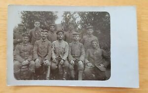 Postcard WW Group Portrait of Soldiers