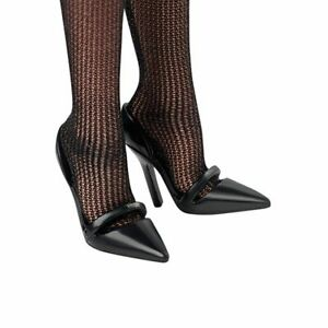 BARBIE SILKSTONE POSABLE BEST IN BLACK HIGH HEEL SHOES & STOCKINGS