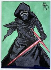 "Star Wars The Force Awakens 2 ""Kylo Ren"" Sketch Card by Brian Kong"
