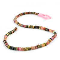 80.00 CTS /14 INCHES NATURAL DRILLED WATERMELON TOURMALINE UNHEATED BEADS STRAND