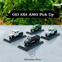 Collectible Car Models Kit 1/64 Toy Mercedes Benz G-Class AMG G63 6X6 G500 4X4