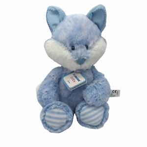 Aurora Baby Huggie Soft Blue Fox Plush Stuffed Animal Crinkle Foot Lovey Lovie