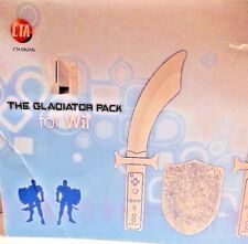 The Gladiator Pack For Nintendo Wii With Foam Sword Knife Shield