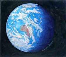 A Jewel in the Heavens EARTH CANVAS ARTIST PROOF Alan Bean Apollo 12 -Australia