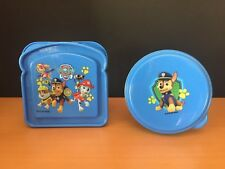 New 2 Piece CHASE Paw Patrol Lunch Set Lot Sandwich & Snack Container