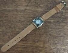 1950's Bullseye Bulova Man's Wristwatch 17J 10AX 10K RGP Lea Band ExCond No Run