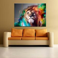 Large Colorful Lion Unframed Picture Wall Art Painting on Canvas Prints Poster