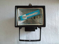 HALOGEN FLOOD LIGHT C/W LAMP IP54 RATED 150W MAX SMALLER VERSION IN BLACK