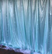 13'W x 10'h Indoor Gauze Romantic LED Lights with Double Layers Party Backdrop