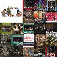 Merry Christmas Window Wall Sticker Decals Snowflake Santa Claus Home Xmas Decor