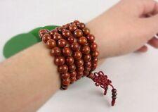 9mm Tibetan Buddhism 108 red star & moon bodhi seed Prayer Bead Mala Necklace