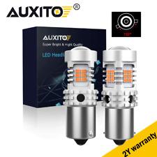2Pc BAU15S PY21W LED Turn Signal Light Bulb Anti Hyper Flash Amber CANBUS 2700LM
