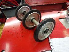 JOHN DEERE snowmobile parts: COMPLETE REAR AXLE w 7 inch wheels