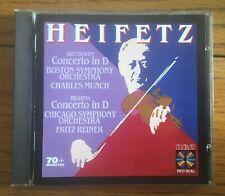 Heifetz plays Beethoven & Brahms Concertos CD - RCA Red Seal