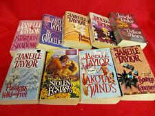 9 Janelle Taylor Historical Romance PB Book Lot Lakota Winds Savage Conquest+++