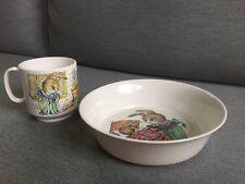 Vintage Peter Rabbit Bowl And Mug, 1960/70's, Oneidaware