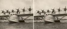 9 tolle Stereofotos von DO-X, Dornier Wasserflugzeug um 1930 - Serie 4, Airplane