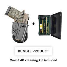 *BUNDLE*  Fobus KMSG Black Polymer Paddle Holster for Kimber Micro 9mm & .380cal
