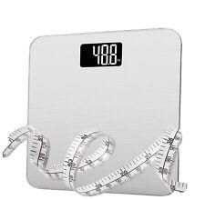 Digital Bathroom Scale 400lb/180kg  Electric in Tempered Glass (silver) BNIB