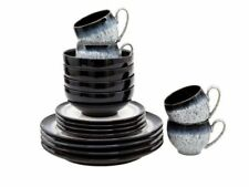 Denby Unique Design Halo Microwave / Oven Usable 16 Pieces Tableware Dining Set