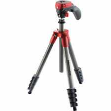 Manfrotto MKCOMPACTACN-RD Compact Action Aluminum Tripod (Red). EU Seller. NEW