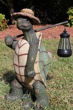 """New Turtle Statue Solar Lantern Garden Statue Sculpture Figurine Pond Decor 17"""""""