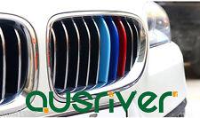 Car Auto Sport M3D Kidney Grill 3 Color Cover Strip Cap Clip Tech  For BMW X5 X6