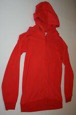 New Hanna Andersson Boys Sweatshirt Hoodie Top 160 14 16 Year Red Zip Up Jacket