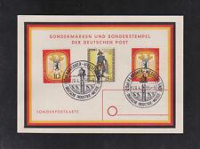 Berlin 131 +129/130 auf Sonderpostkarke zur Hannover-Messe 1956