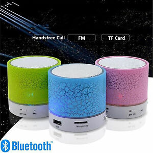 Bluetooth Mini LED Speaker Memory Card USB Music Wireless Speaker Phone