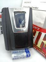 Sony TCM-16 Standard Cassette Voice Recorder Dictaphone Handheld Dictation Black