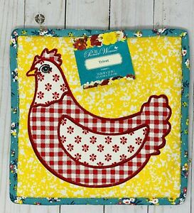 The Pioneer Woman Large 10 X 10 Quilted Trivet Chicken Country Chic Design New