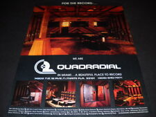 QUADRADIAL a beautiful place to record in Miami PROMO POSTER AD mint condition