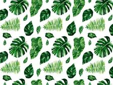 TROPICAL GREEN LEAVES PAINTING PAINT BY NUMBERS CANVAS KIT 12 x 16 ins FRAMELESS
