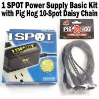 Visual Sound 1-SPOT Power Supply & Pig Hog 10 Way Daisy Chain Cable Basic Kit