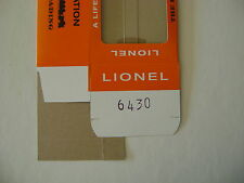 Lionel 6430 Licensed Reproduction Window  Flatcar w/Cooper-Jarrett Vans  Box