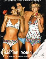 PUBLICITE  1976   JANINE ROBIN  maillots de bain