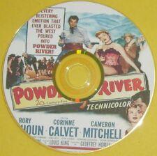 WESTERN 92: POWDER RIVER (1953) Rory Calhoun, Corinne Calvet, Cameron Mitchell